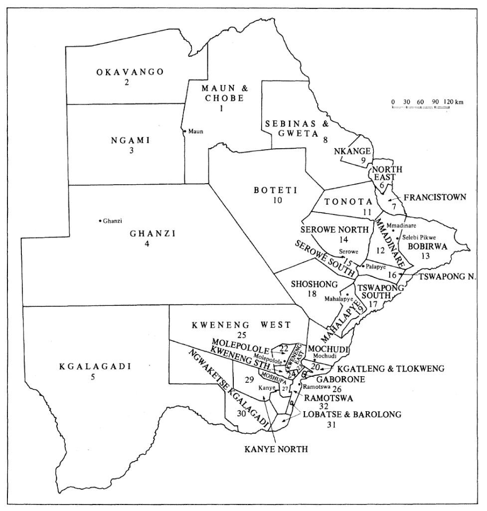 BW 1974 Constituencies