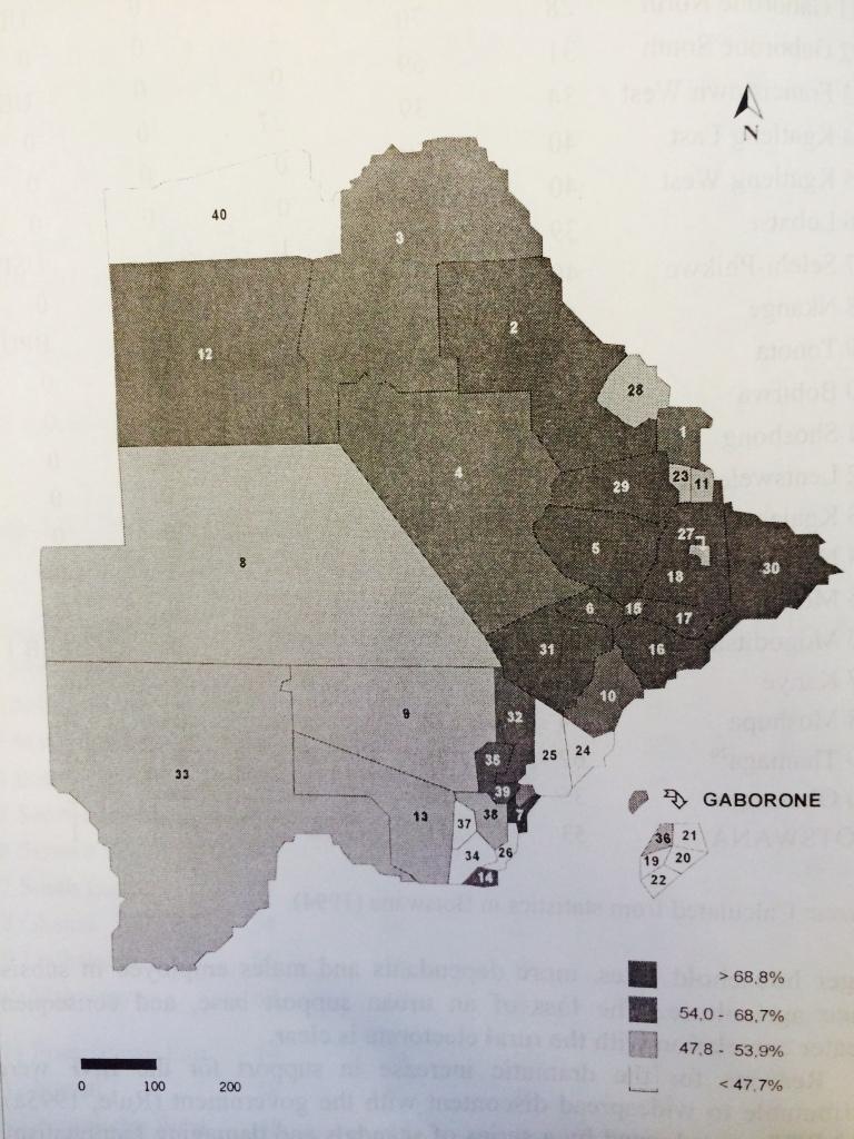 BW 1994 Constituencies