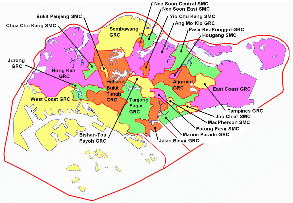 SG 2006 Districts Map